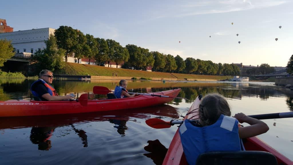 Canoeing in Vilnius