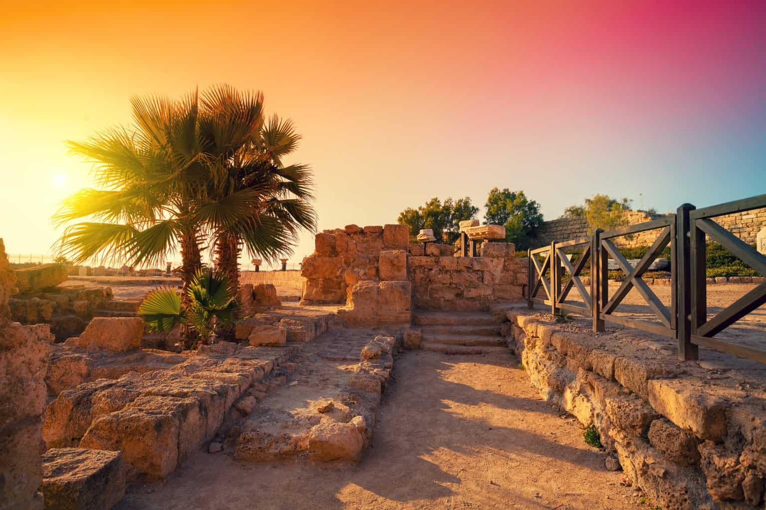 Walking tour in Caesarea